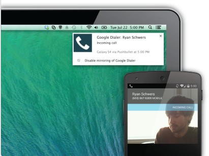 pushbullet notifications Android sur Mac
