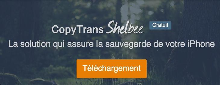 copytrans shelbee sauvegarde itunes