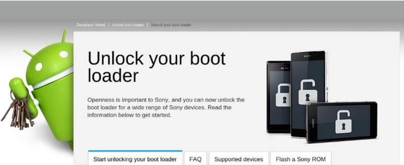 deverrouiller le bootloader sony xperia
