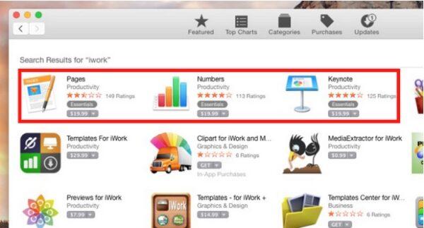 iwork gratuit pour mac