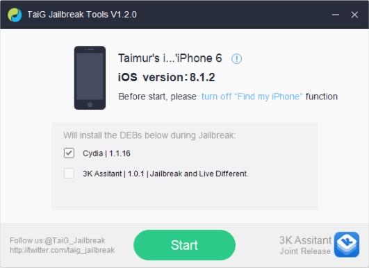 jailbreak ios 8.1.2 taig 1.2-
