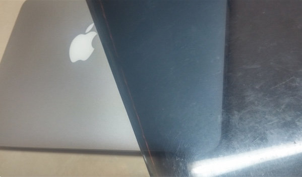 usure coque macbook pro