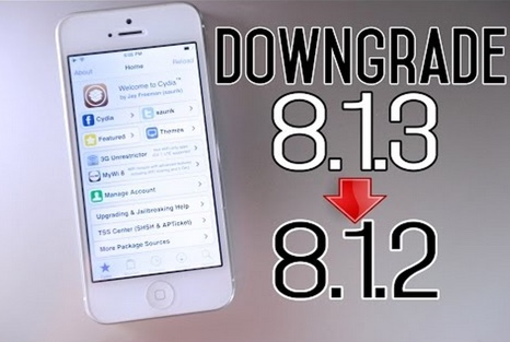 downgrade ios 8.1.3-infoidevice