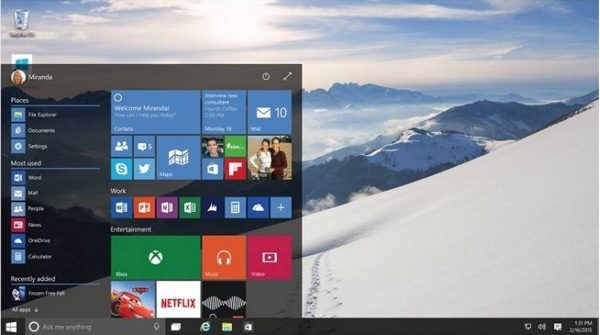 menu demarrer windows 10-infoidevice
