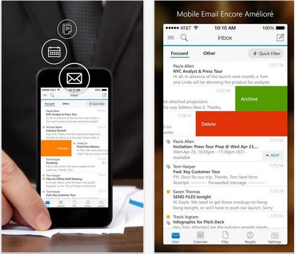 outlook pour ios et android-infoidevice