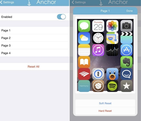 reglages tweak anchor cydia-infoidevice