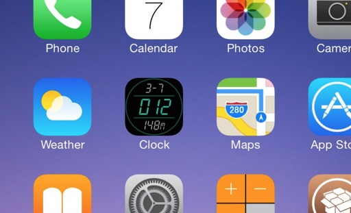 digital clock icon tweak cydia-infoidevice