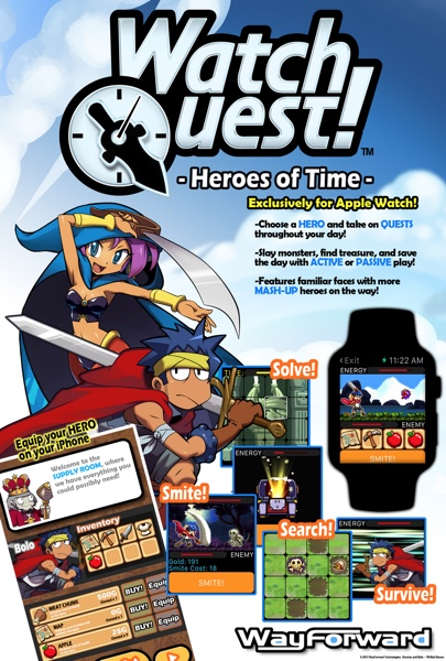 Apple watch quest heroes of time wayforward-infoidevice