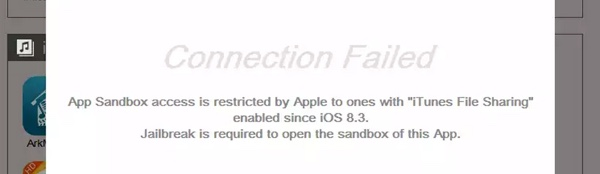 connection failed ios 8.3-infoidevice