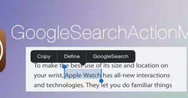 tweak googlesearchactionmenu pour menu action iphone-infoidevice