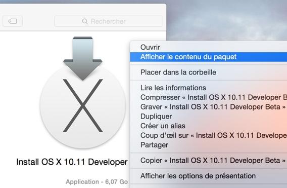 afficher le contenu OS X El Capitan-infoidevice