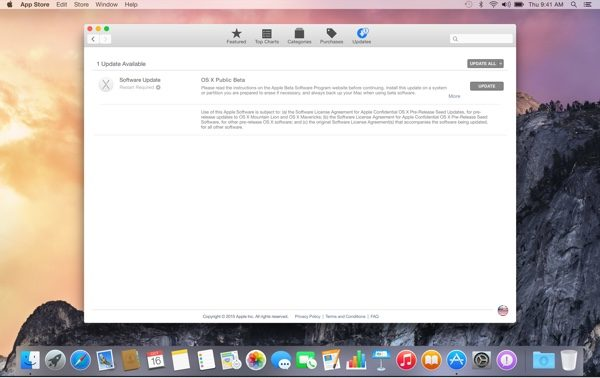 installer osx beta publique-infoidevice