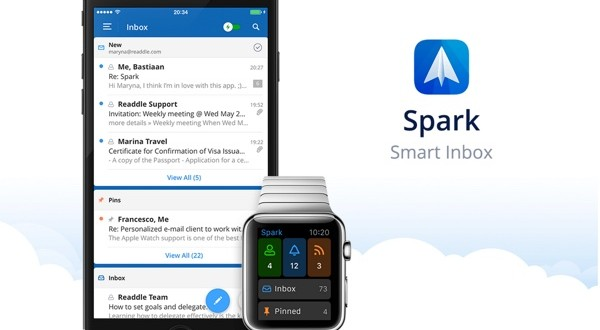 spark smart inbox client mail iphone et apple watch-infoidevice
