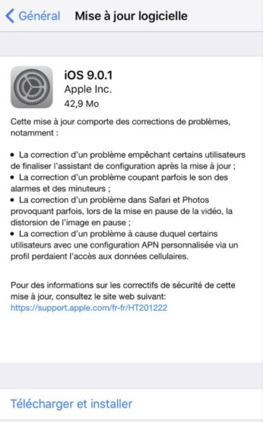 ios 9.0.1 iphone 6-infoidevice