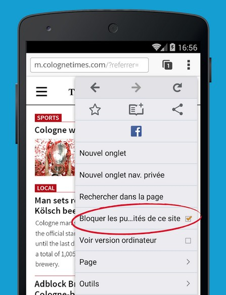 liste blanche adblock browser-infoidevice