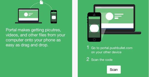 portal wifi file transfert pushbullet-infoidevice