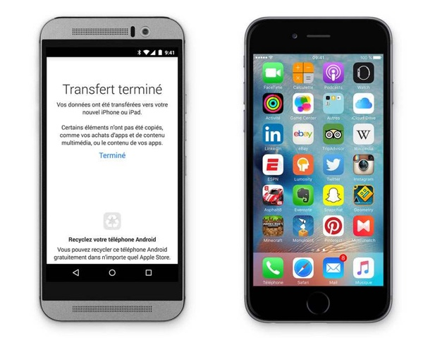 transfert donnees android vers ios-infoidevice