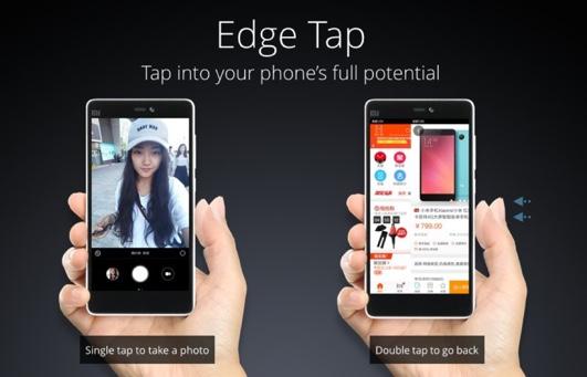 Edge tap xiaomi mi4c-infoidevice