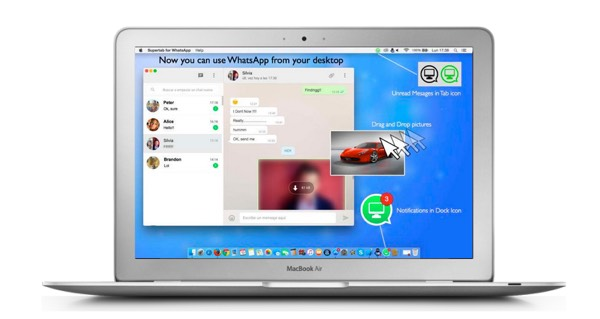 Supertab WhatsApp Mac OS X-infoidevice