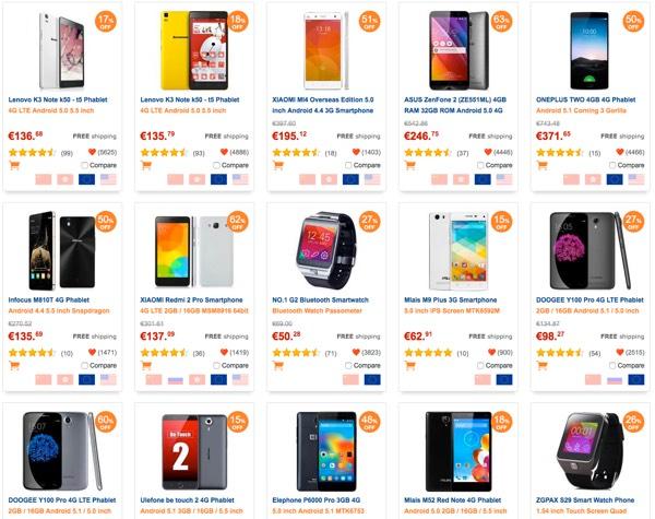 gearbest livraison en europe de smartphone chinois-infoidevice