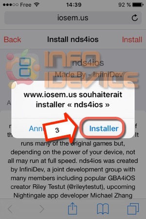Etape 2 tuto installer emulateur nds4ios-infoidevice