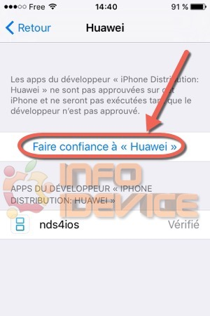Etape 4 tuto installer emulateur nds4ios-infoidevice