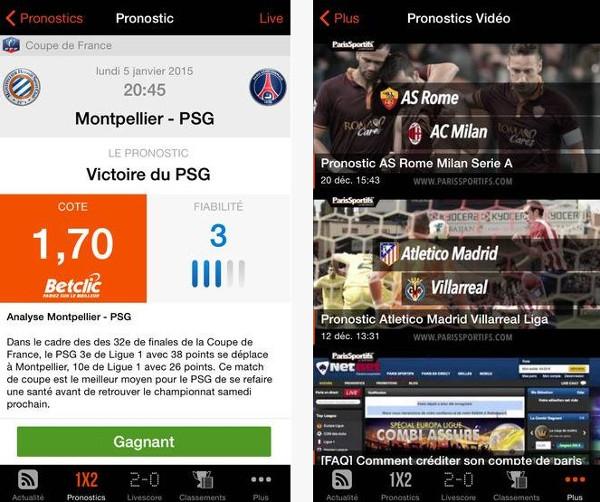 application paris sportifs iphone