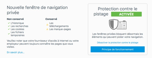 fenetre navigation privee firefox 42-infoidevice