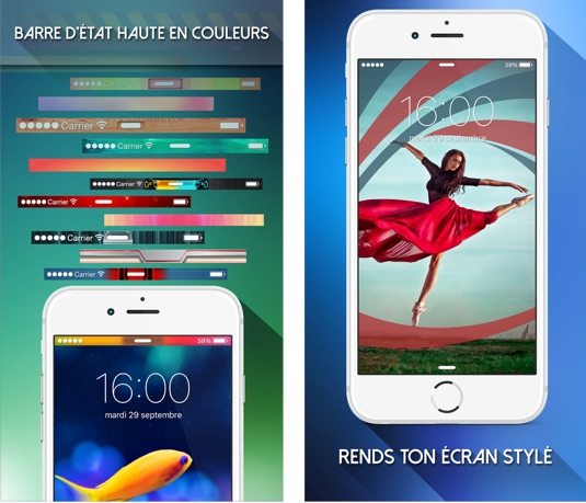 personnaliser barre d etat fancy lock screen themes-infoidevice