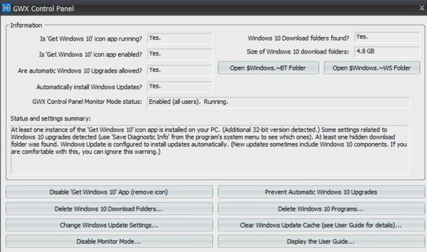 GWX control panel windows 10-infoidevice