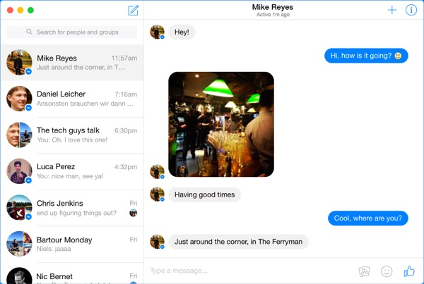 facebook messenger goofy mac-infoidevice