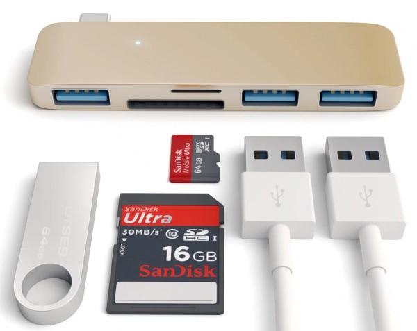 satechi combo 3 en 1 Hub pour MacBook 12 pouces USB Type-C-infoidevice