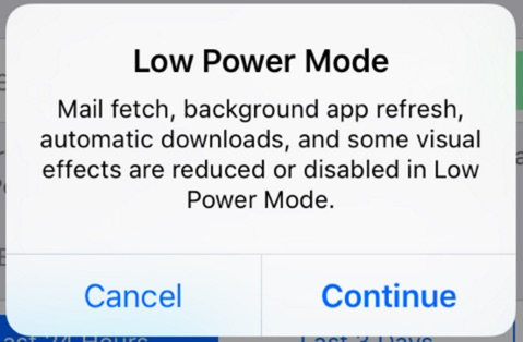 tweak low power mode cydia-infoidevice