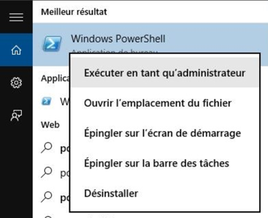 executer powershell windows 10-infoidevice