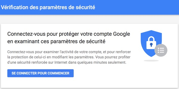 verification parametres securite google-infoidevice
