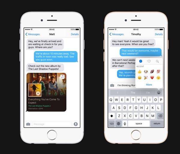 texte enrichi et recherche emoji ios 10-infoidevice