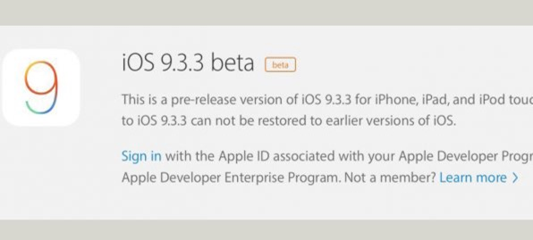 ios 9.3.3 beta 1 apple-infoidevice