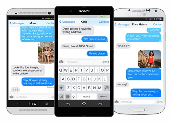 apple porte imessage sur android-infoidevice