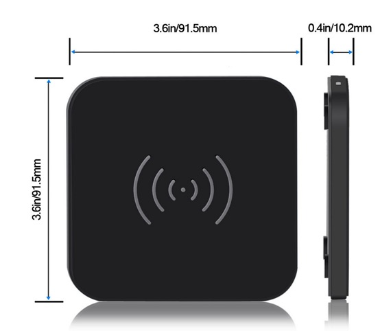 dimensions chargeur qi choetech-infoidevice