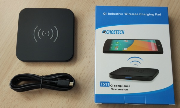 package chargeur sans fil qi choetech-infoidevice
