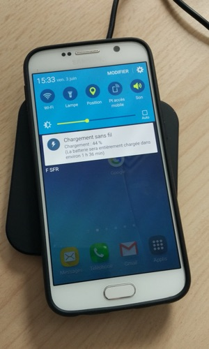 test charge qi sans fil choetech-infoidevice