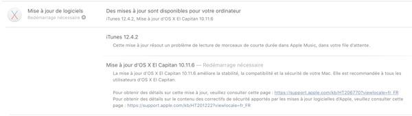 mise a jour os x el capitan 10.11.6-infoidevice