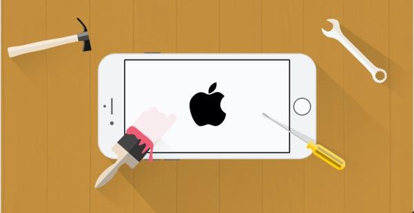 reparer iphone bloque sur la pomme-infoidevice