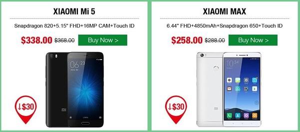vente flash smartphone xiaomi tinydeal-infoidevice