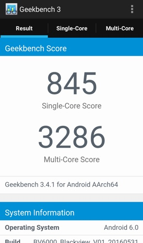 benchmark blackview bv6000-infoidevice