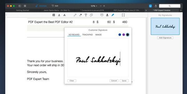 inserer signature pdf expert 2-infoidevice