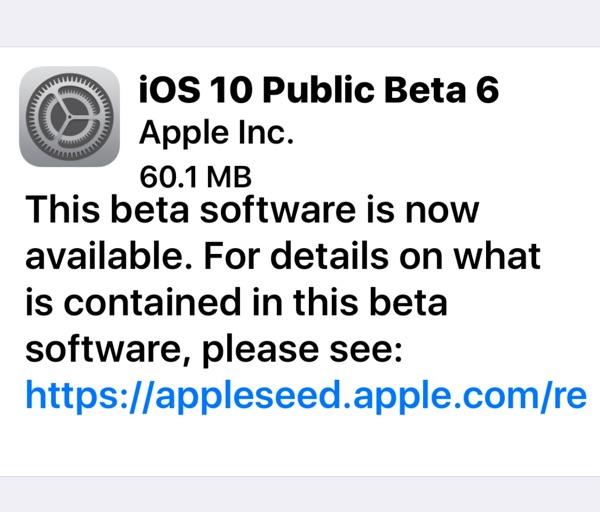 ios 10 public beta 6-infoidevice