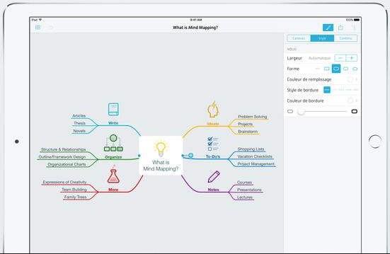 mindnode carte heuristique-infoidevice