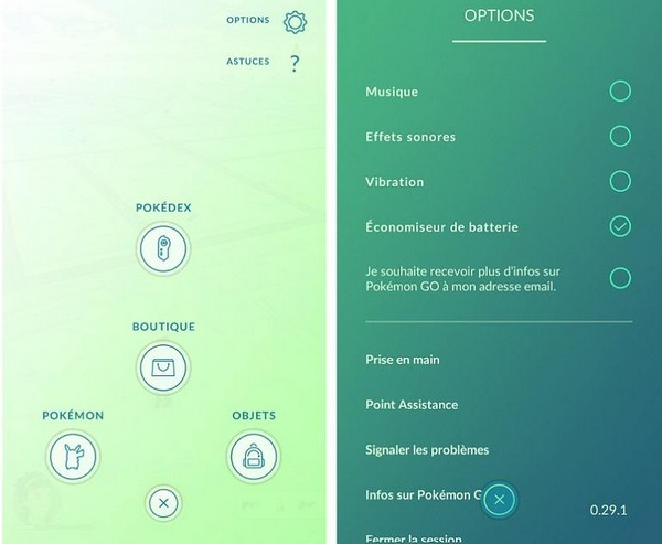 options pokemon go-infoidevice