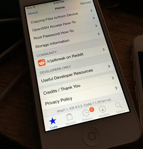 jailbreak ios 9.3.3 ipod 7.1-infoidevice